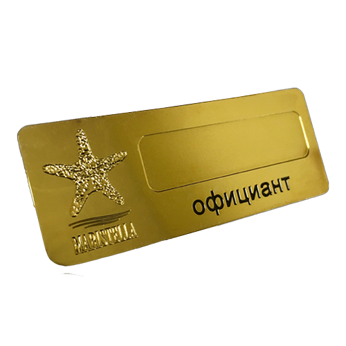Metal badges for Maristella Hotel in Odessa