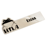 Corporate badges under the order of the company Hyla