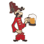 enamel pin - Cossack with a glass of beer