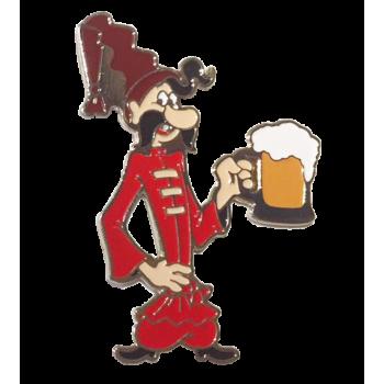 значок - Казачок с бокалом пива