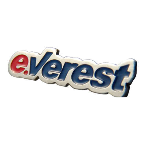 Corporate badge / lapel pin with company logo Everest Ukraine
