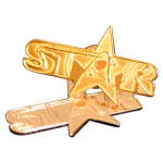 Gold-plated corporate badge - STAR